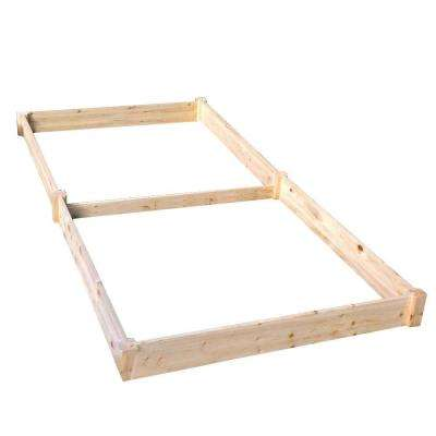 4 ft. x 8 ft. x 17.5 in. Wood Raised Garden Bed