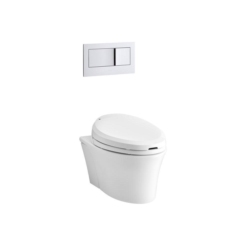 KOHLER Veil Wall Hung Elongated Toilet Bowl Only In White K 6300 0