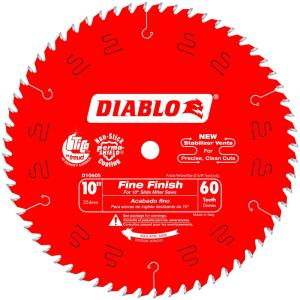 Diablo 10 inch x 60-Teeth Fine Finish Slide Miter Saw Blade (25-Pack) by Diablo