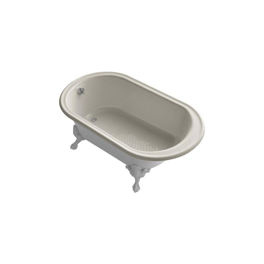 KOHLER Iron Works 5.5 ft. Cast Iron Ball-and-Claw Foot Bathtub in ...