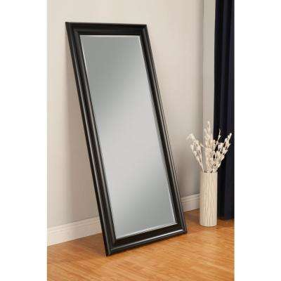 Black Full Length Leaner Floor Mirror