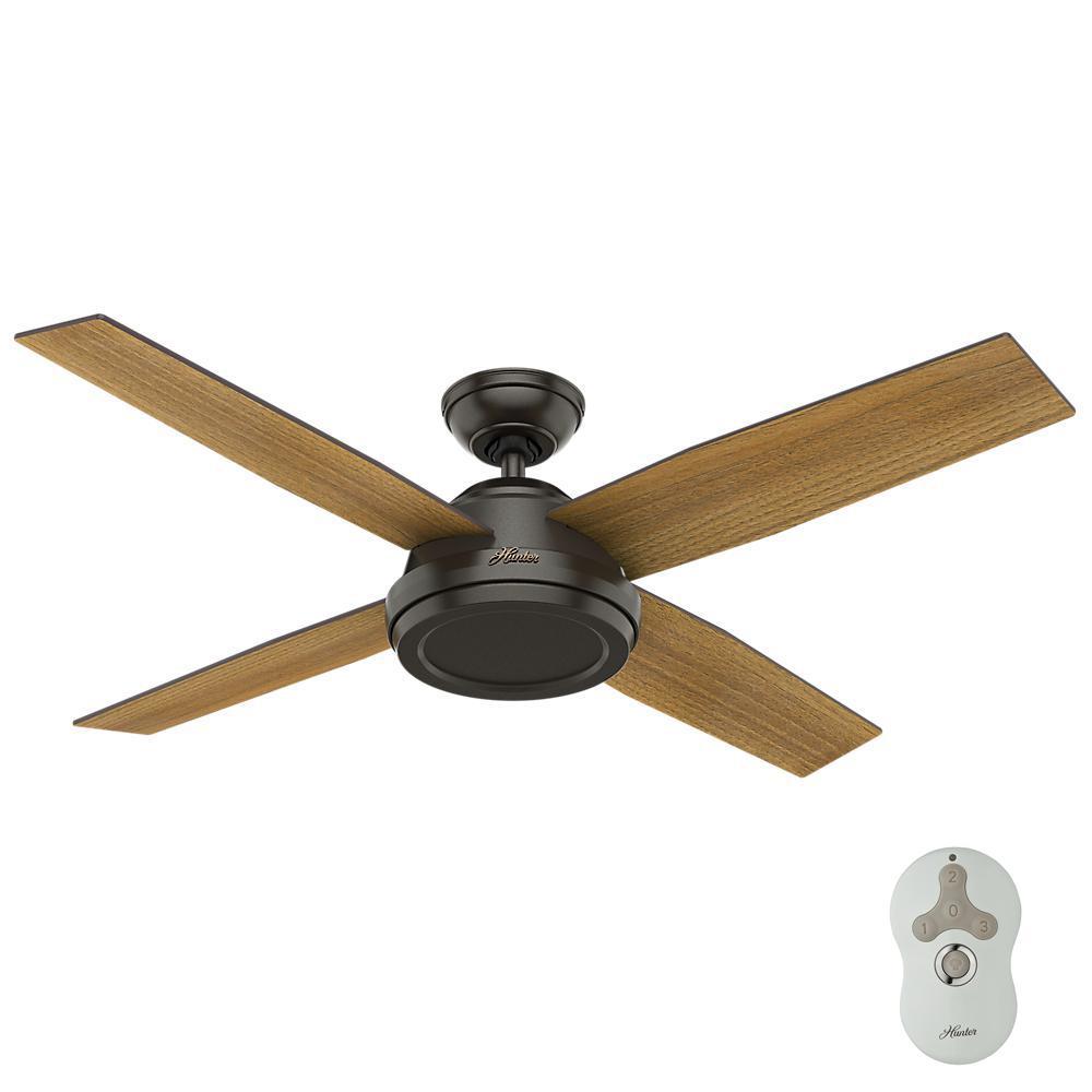 Hunter Dempsey 52 in. Indoor Noble Bronze Ceiling Fan
