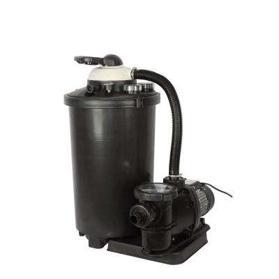 Sand Filter System for Above Ground Pools 1 HP with Multiport Valve, 16 in. 100 lb. 5,400 GPH, 50 ft. Max Head