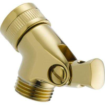 Pin Mount Swivel Connector for Hand Shower in Polished Brass
