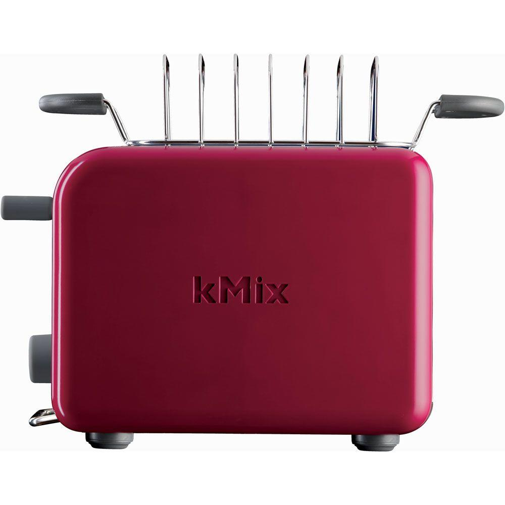 DeLonghi kMix 2-Slice Toaster with Bun Warmer in Red-DISCONTINUED