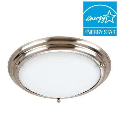 Centra 2-Light Brushed Stainless Flushmount