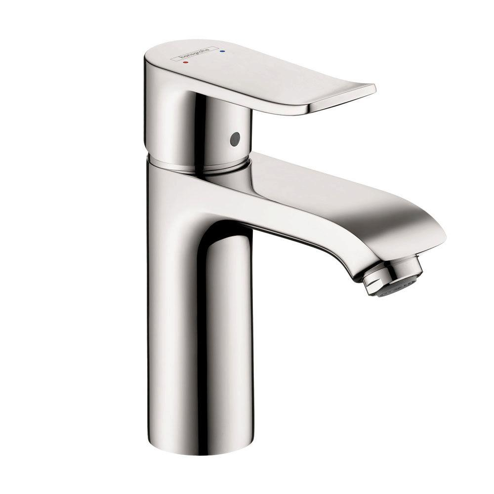 hansgrohe metris 110 single hole 1 handle bathroom faucet in chrome without pop up drain. Black Bedroom Furniture Sets. Home Design Ideas