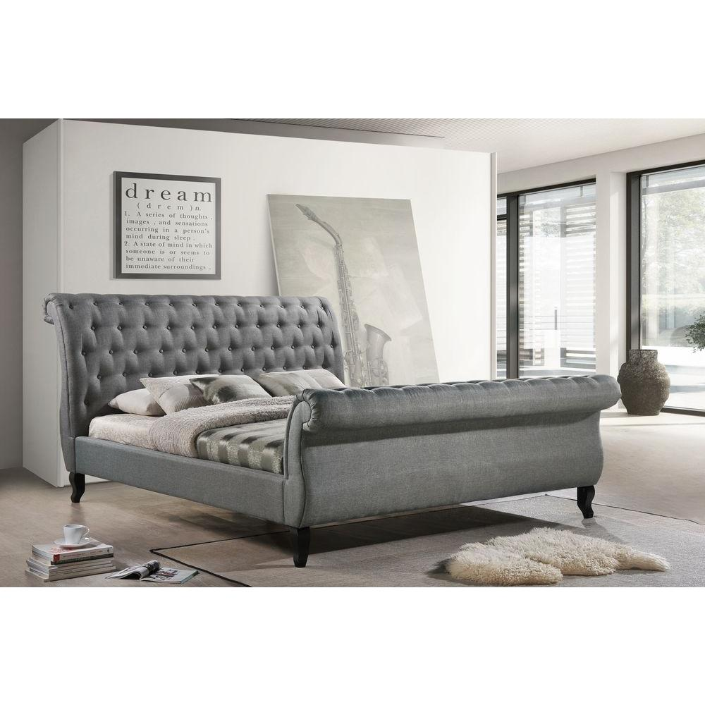 LuXeo Nottingham Gray King Sleigh Bed-LUX-K6317-GRY - The Home Depot