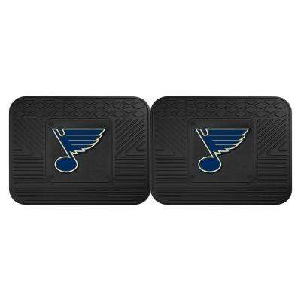 NHL St. Louis Blues Black Heavy Duty 14 in. x 17 in. 2-Piece Vinyl Utility Mat