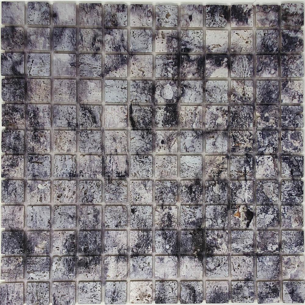 Instant Mosaic 12 in. x 12 in. Natural Stone Peel and Stick Mosaic Tile (8 sq. ft. /case)