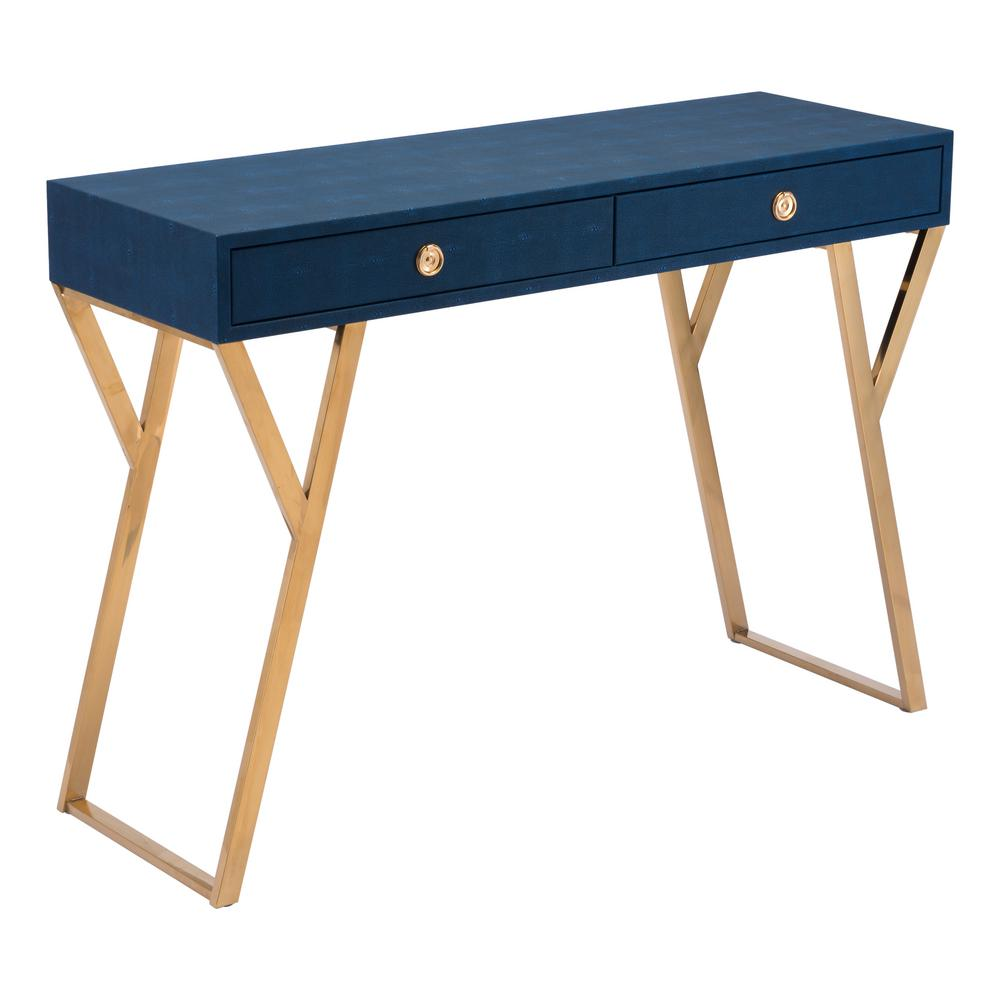 blue console table. ZUO Asti Navy Blue Console Table