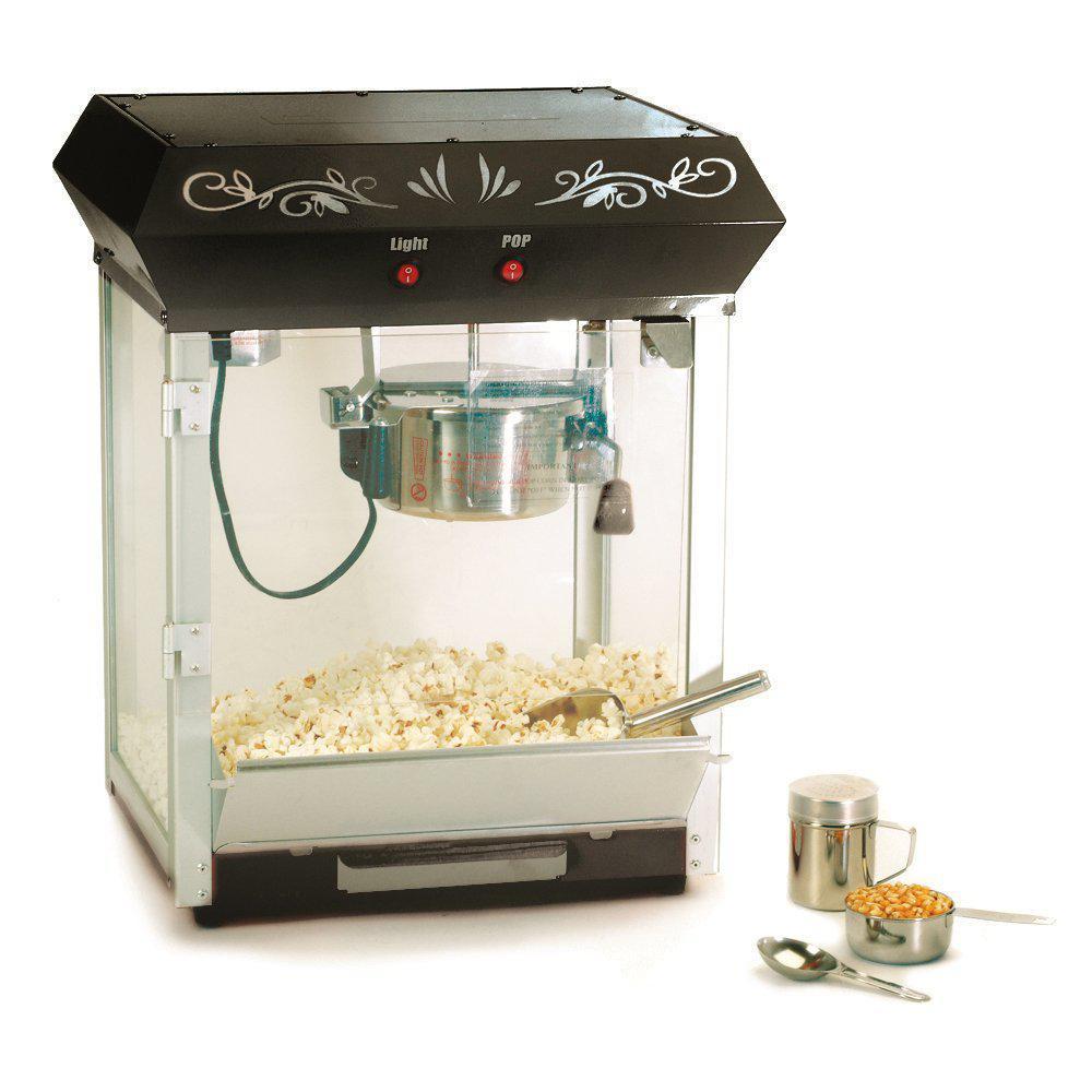 Elite Systems 6 oz. Black Kettle Tabletop Popcorn Maker