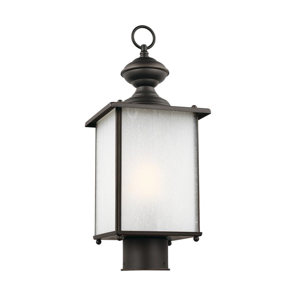 Jamestowne 1-Light Outdoor Antique Bronze Post Light