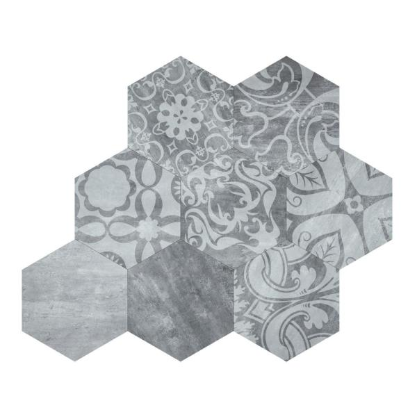 Geneva Mosaic Grey 10x10 Peel and Stick Tile (Pack of 10)