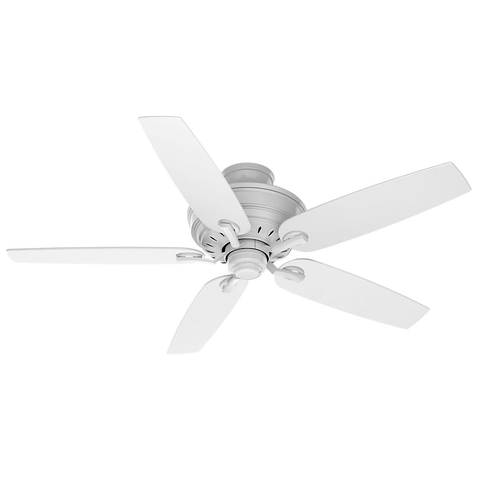 Adelaide 54 in. Indoor Snow White Ceiling Fan with Hi-Gloss Snow