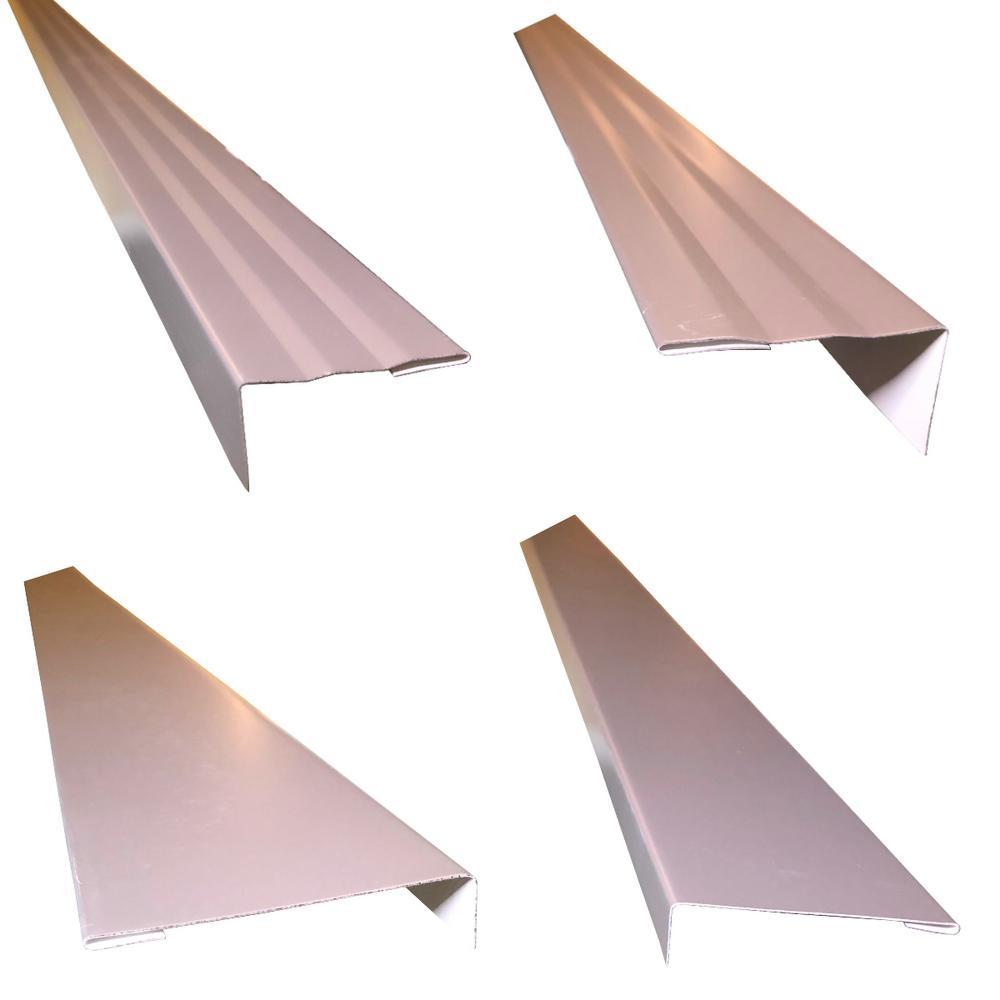 2.5 in.x2.25 in.x85 in. Complete Aluminum Metal Brickmold-Jamb Door Trim Cover Kit-72 in. Door w/Siding, Charcoal Grey