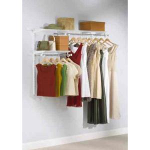 Exceptional Configurations Custom Closet 3   6 Ft. White Starter Kit. Rubbermaid  Configurations ...