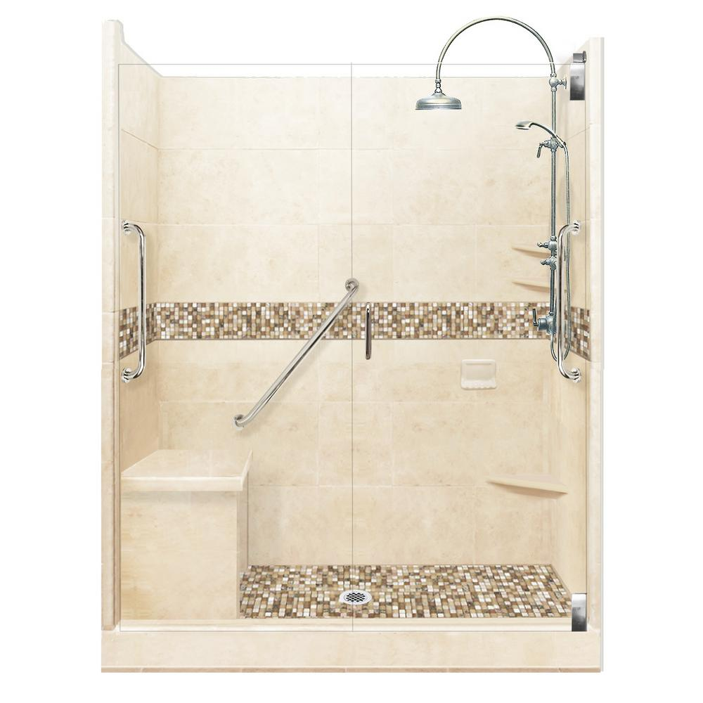 American Bath Factory Roma Freedom Luxe Hinged 32 in. x 60 in. x 80 ...