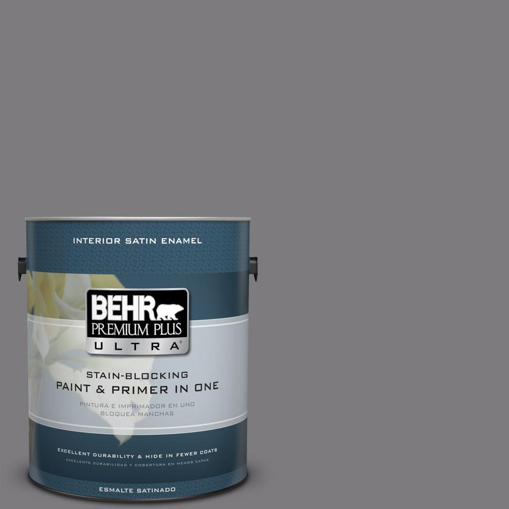 #BXC 58 Stormy Gray Satin Enamel Interior Paint And Primer