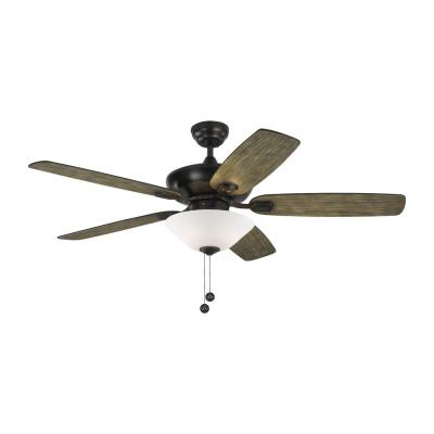 Colony Max Plus 52 in. Indoor/Outdoor Aged Pewter Ceiling Fan with Light Kit