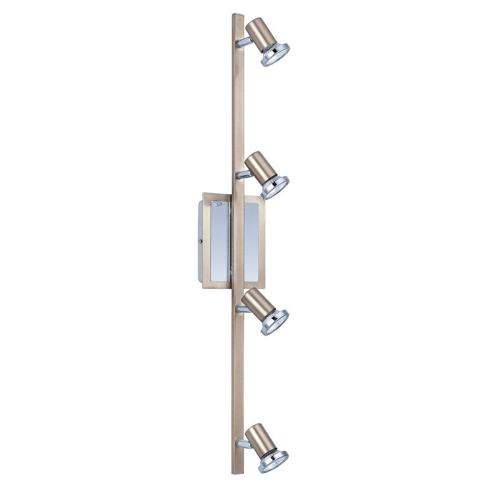 null Rottelo 4-Light Surface Mount Matte Nickel and Chrome Track Lighting Fixture