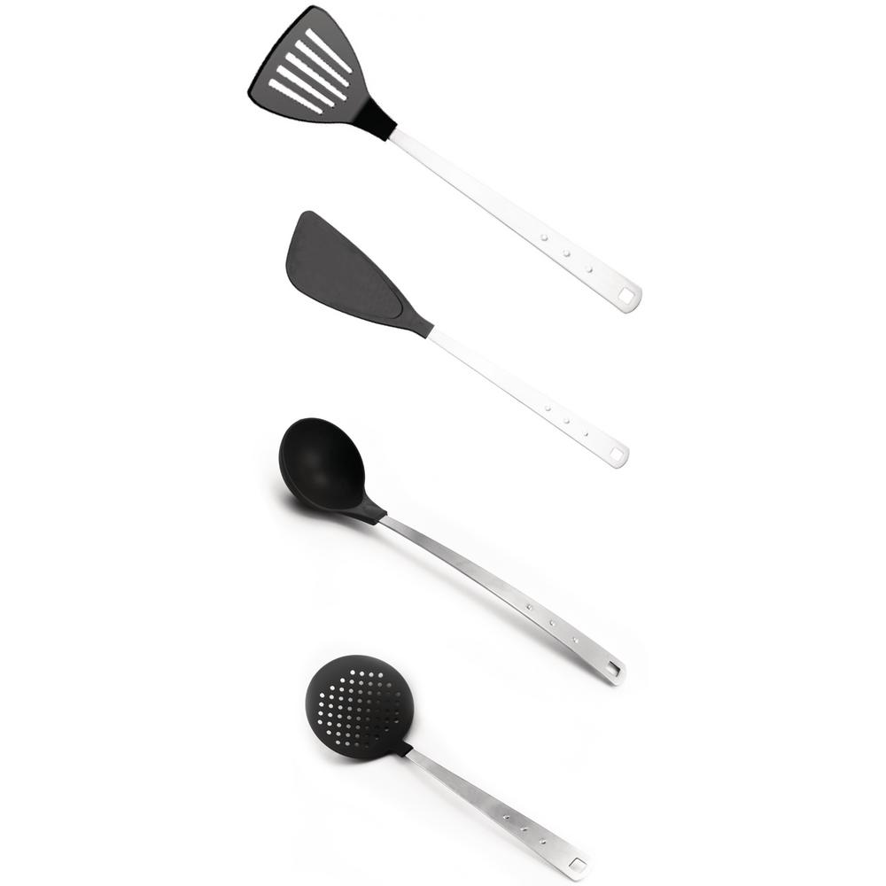 Cubo Nylon and Stainless Steel Utensil Set (Set of 4)