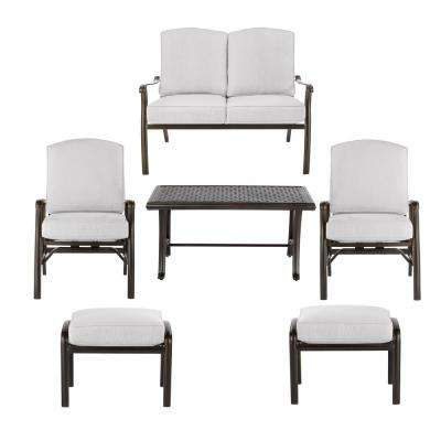 Ridge Falls Aluminum Outdoor Deep Seating Set with Cushions Included, Choose Your Own Color