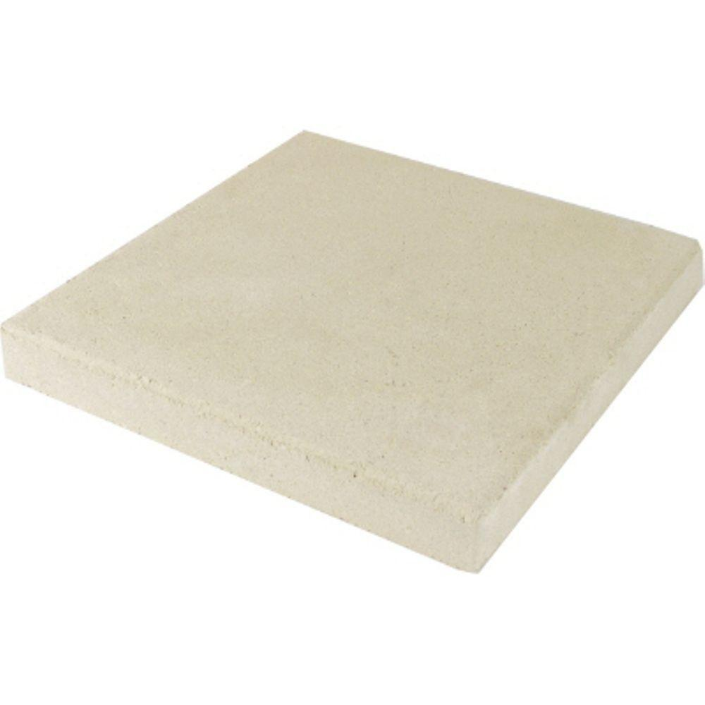 11.75 in. x 11.75 in. x 1.5 in. White Concrete Step