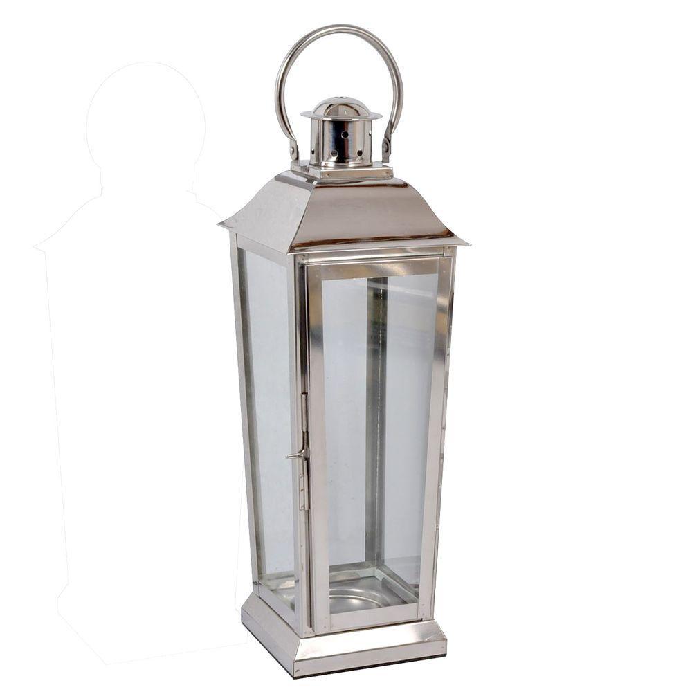 20 in. Chrome LG Lantern