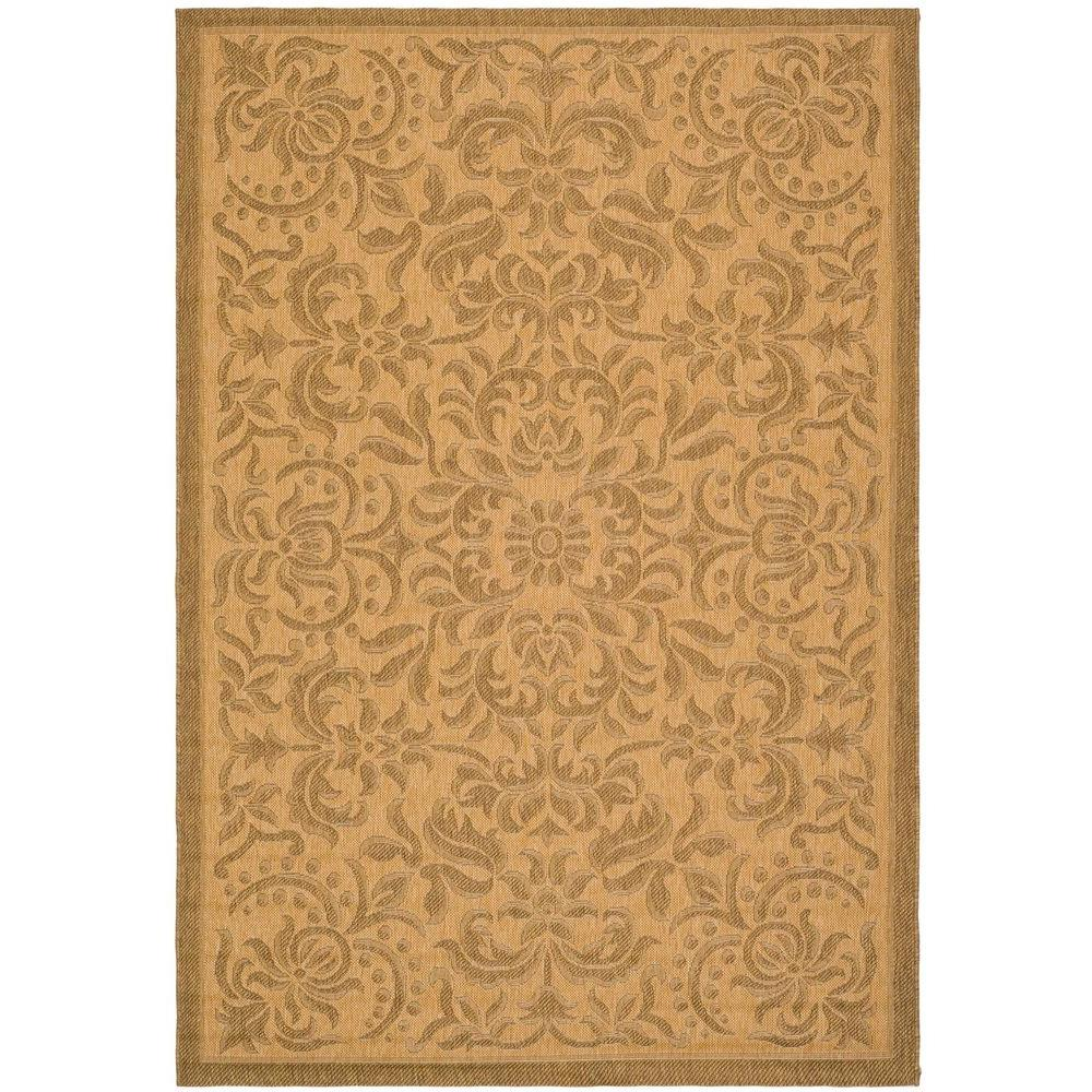 safavieh courtyard gold 8 ft x 11 ft indoor outdoor area rug cy6634 39 8 the home depot