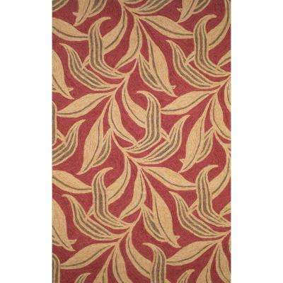 Sinclair Petals Red 8 ft. x 12 ft. Indoor/Outdoor Area Rug