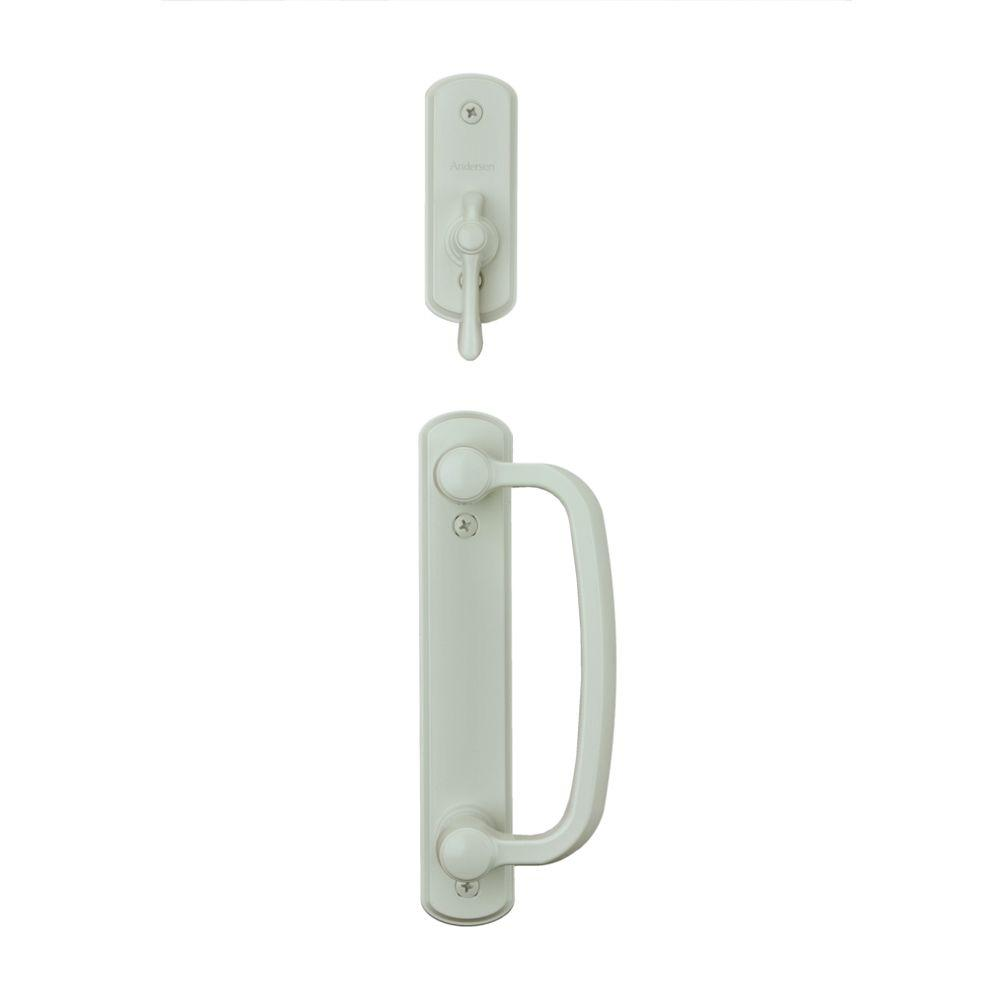 null Albany 2-Panel Gliding Patio Door Hardware Set in White