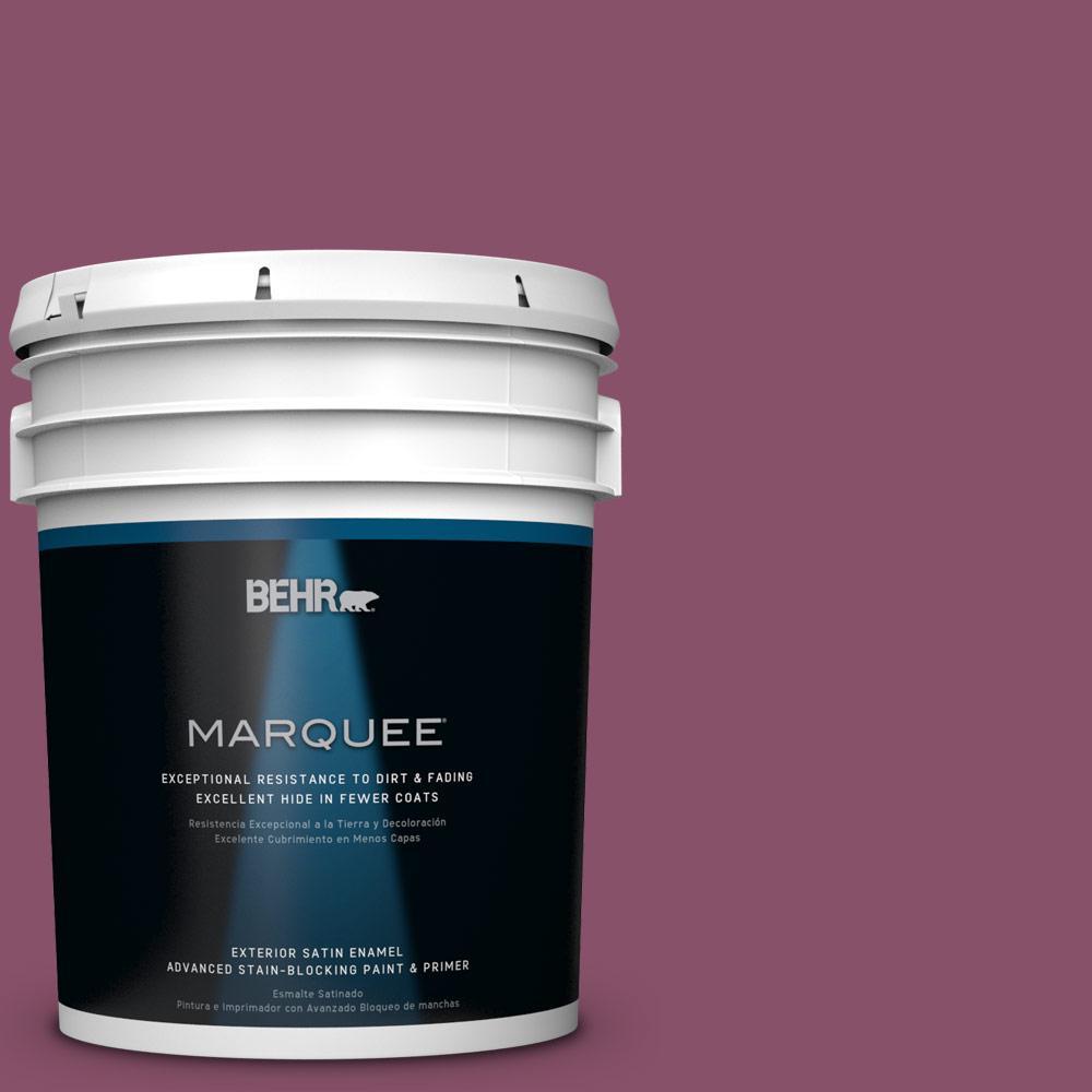 BEHR MARQUEE 5-gal. #M120-7 Raspberry Crush Satin Enamel Exterior Paint
