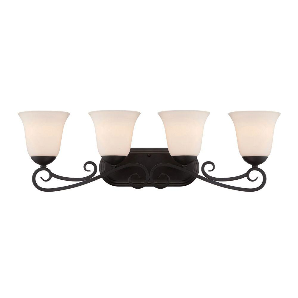 Designers Fountain Addison 4 Light Oil Rubbed Bronze Bath Bar Light
