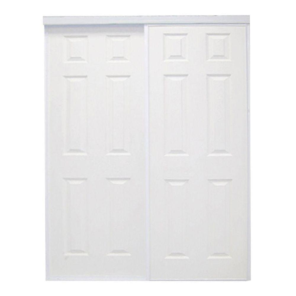 60 in. x 96 in. Colonial White Prefinished Hardboard Panels Steel