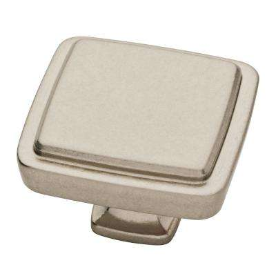 Refined Comfort 1-1/2 in. (38mm) Bedford Nickel Square Cabinet Knob