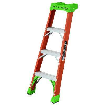 4 ft. Fiberglass PRO Shelf Ladder with 300 lbs. Load Capacity Type IA Duty Rating
