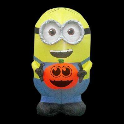 21.65 in. W x 28.35 in. D x 35.83 in. H Inflatable Minion Dave Holding Pumpkin