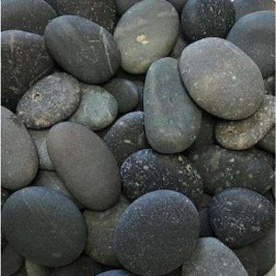0.25 cu. ft. 20 lbs. 1/2 in. to 1-1/2 in. Black Button Mexican Beach Pebble