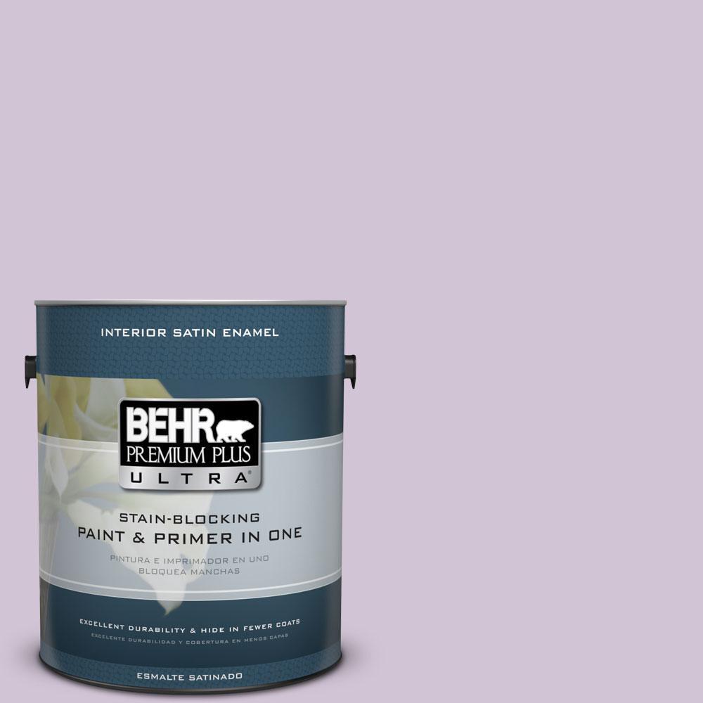 BEHR Premium Plus Ultra 1-gal. #M100-2 Seedless Grape Satin Enamel Interior Paint
