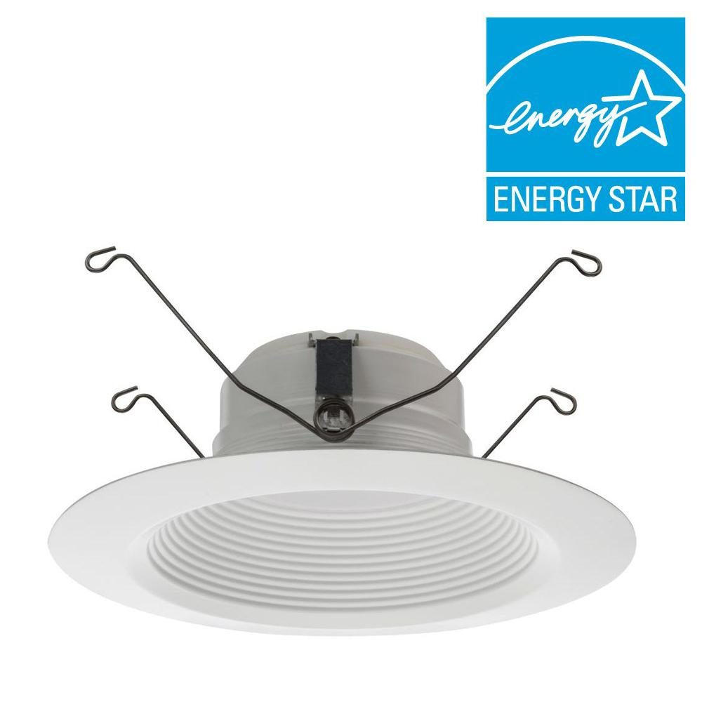 Lithonia Lighting E Series 5 In And 6 Matte White Recessed 3000k