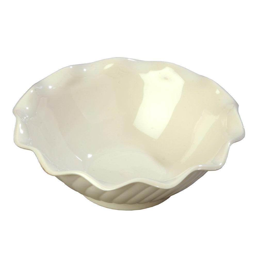 5 oz. SAN Plastic Tulip and Berry Dish in Bone (Case of 24)