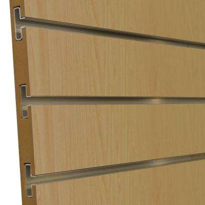 3/4 in. x 4 ft. x 8 ft. 3 in. OC Hardrock Maple Melamine Slatwall with Aluminum Inserts, Plus 3 Inserts (5-Pack)
