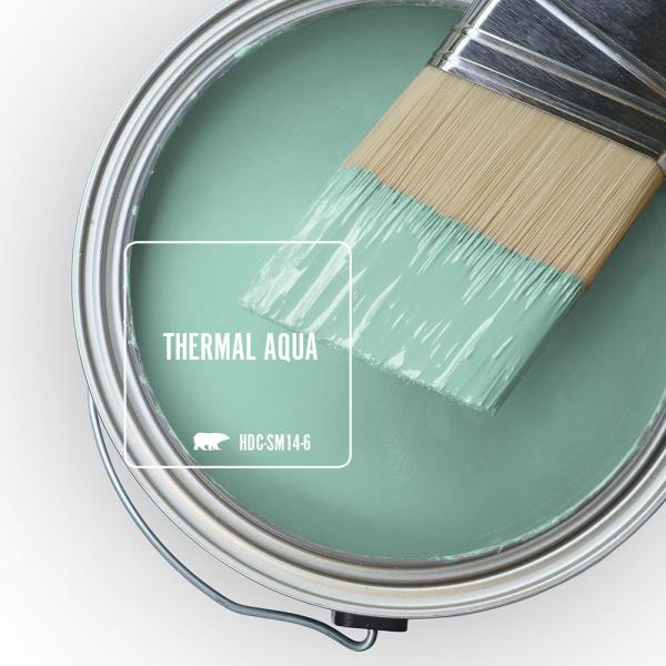 Reviews For Behr Marquee 1 Gal Home Decorators Collection Hdc Sm14 6 Thermal Aqua Matte Interior Paint Primer 145401 The Home Depot