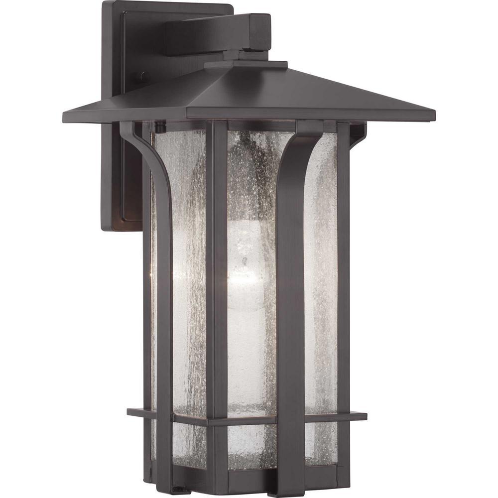 Cullman Collection 1-Light Antique Bronze Wall Lantern Sconce