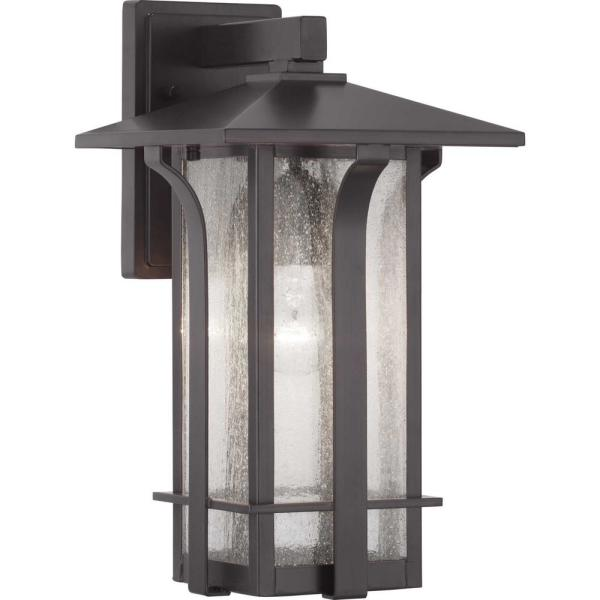 Cullman Collection 1-Light Antique Bronze Wall Lantern Sconce