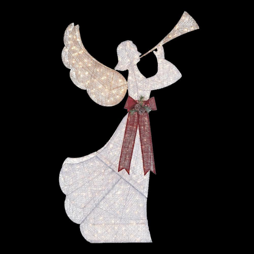 48quot animated crystal 3d angel with trumpet lighted christmas