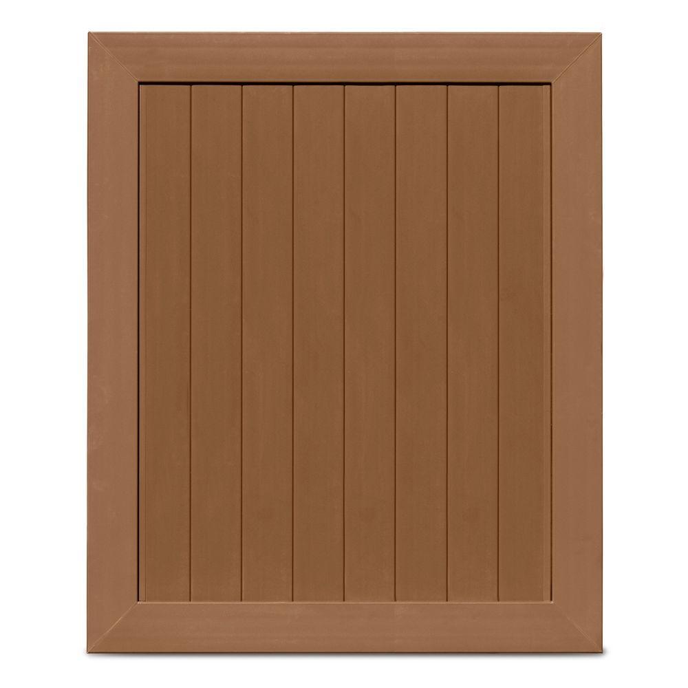Veranda Pro Series 5 ft. W x 6 ft. H Brown Vinyl Anaheim Privacy Fence Gate