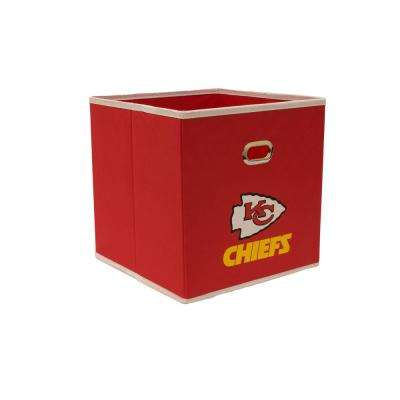 Kansas City Chiefs NFL Store-Its 10-1/2 in. W x 10-1/2 in. H x 11 in. D Red Fabric Drawer