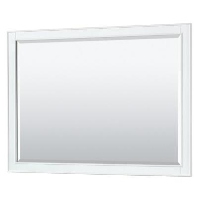 Deborah 46 in. W x 33 in. H Framed Wall Mirror in White